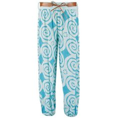 Boohoo Sophie Swirl Print Belted Harem Trousers ($16) ❤ liked on Polyvore