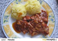 Krkovička z trouby recept - TopRecepty.cz Czech Recipes, Ethnic Recipes, Russian Recipes, Meatloaf, Mashed Potatoes, Good Food, Food And Drink, Pork, Cooking Recipes