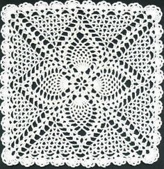 Pineapple Square/Doily: free pattern