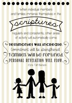 I love this quote from President Benson #lds #mormon #scriptures #families #testimony