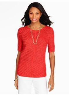 Sparkle Chevron-Knit Sweater