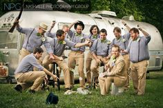 Fun with airstreams and groomsmen  Wedding photography by Nashville Photography Group