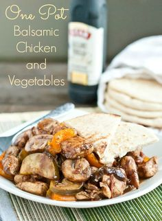 One Pot Balsamic Chicken and Vegetables is a healthy 20 minute meal for busy weeknights.
