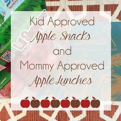 Wife Mommy Me: 10 Apple Themed Recipes + Our Favorite Apple Lunches #apple #fall #healthy #meals #toddlers #snacks