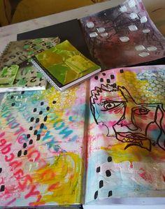 Prepping my new art journals