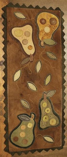 "Pears Wooly Table Rug, 30""l x 12""w"