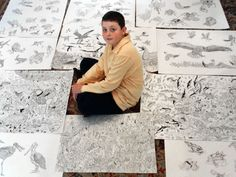 Dušan Krtolica, a 13-year-old child prodigy from Belgrade, Serbia has been making art since he was 2 years old.