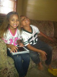 Jadyn and Amaya-Go Packers