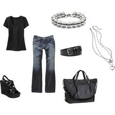 Love the black Louis Purse and those shoes!