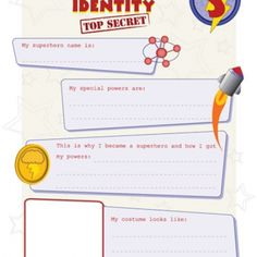 Secret Superhero Identity & I.D. Card - What secret identity can help in social situations