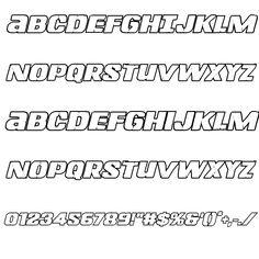 Left Hand Luke Bold Outline Italic Font
