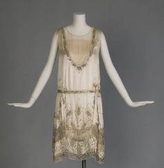 Blum's Vogue (Designer), Wedding Dress, Chicago, 1927. (View 1)