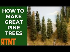 How to make model pine trees that look great and realistic for your model railroad layout quickly and inexpensively.