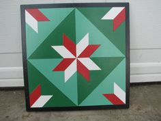 Barn Quilt, 1x1, Four Square Pattern