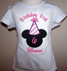 Minnie Birthday Strip Hat Shirt Disney Personalized Pink Purple