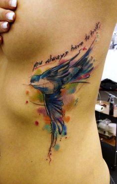 pretty bird tattoo