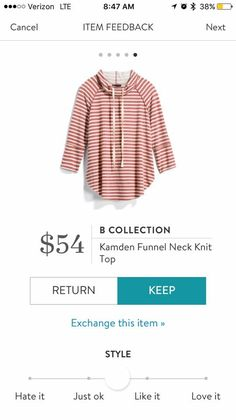 B Collection Kamden Funnel Neck Knit Top