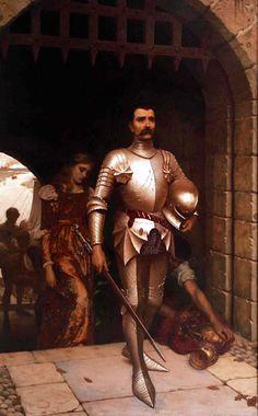Edmund Blair Leighton (1853-1922) The Conquest, 1884 England