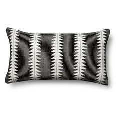 "$25 - Global Oversized Lumbar Pillow, 27""x15"" - Black _ – Threshold™"