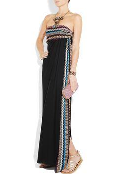 Carolina crepe and crochet-knit gown $2,035 Missoni Net-a-Porter