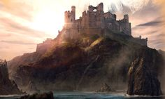 Evenfall Hall is the seat of House Tarth in the Stormlands. It is located on the western coast of the island of Tarth along Shipbreaker Bay. They are one of the main houses sworn to Storm's End.  Their blazon is quartered with yellow suns on rose and white crescents and azure. Their words are not known. Lord Tarth is sometimes called the Evenstar.