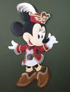 Pirate Minnie - Disney Paper Sculpture by Karin Arruda on Behance. Disney fine art - Disney fan art