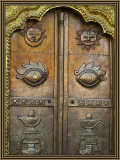 Ancient metal door representing the heavens, all seeing eyes and the magic lamps. Doors And Floors, Windows And Doors, Knobs And Knockers, Door Knobs, Entrance Doors, Doorway, Doors Galore, When One Door Closes, Door Gate