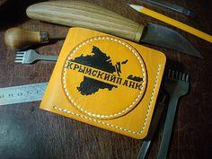 Ручная работа Кожаный кошелек Крымский Панк