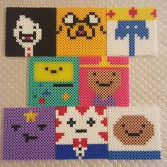 Adventure Time coaster set perler beads by samantha_oakes