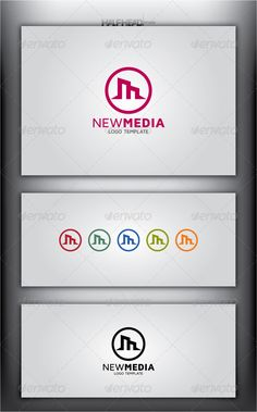 New Media Logo Template