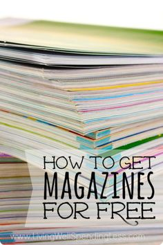 If you`ve looked at the cost of magazines these days, you know how outrageous and high-priced they are. Thankfully, I`ve found quite a few ways to get them for absolutely free, and here`s a list of all my secrets!