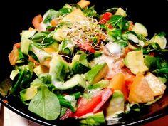 Claire Au Matcha: Salade Saumon, Avocat et melon et la fameuse sauce à l'œuf!