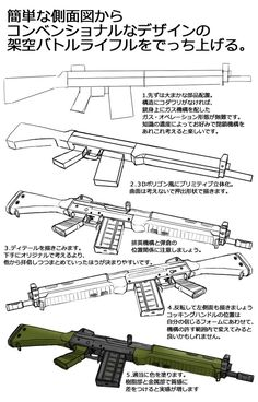 Hey hey, another art tutorial on guns, this time, a rifle. Design Reference, Pose Reference, Drawing Reference, Drawing Poses, Drawing Tips, Object Drawing, Weapon Concept Art, Drawing Techniques, Art Tips