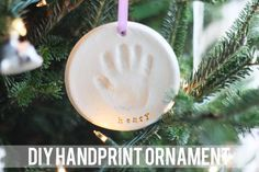 Keepsake craft baking soda clay handprint ornaments easy craft diy salt dough handprint ornament solutioingenieria Choice Image