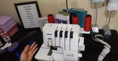 Never re-thread again! The best way to change serger threads. Serger Thread, Serger Sewing, Sewing Basics, Sewing Hacks, Brother Embroidery Machine, Thimble, Sewing Techniques, Sewing Patterns, How Are You Feeling