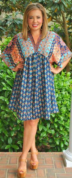 Perfectly Priscilla Boutique -  Meet Me In Morocco Dress - Multi, $45.00 (http://www.perfectlypriscilla.com/meet-me-in-morocco-dress-multi/)
