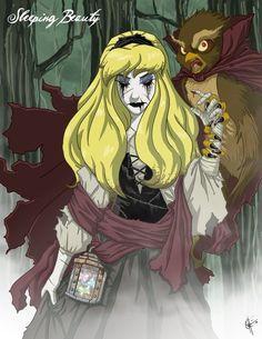 Artista desenha princesas da Disney em versão macabra. Mobile
