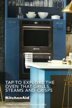 Introducing the Smart Oven+ with Powered Attachments. Diy Kitchen Storage, Kitchen Items, New Kitchen, Kitchen Dining, Home Decor Furniture, Home Furnishings, Home Renovation, Home Kitchens, Living Room Designs
