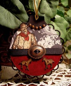 Stampin' Up's Wild Wild West Stamp Set paired with die cuts for a special ornament.