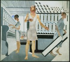 Alexander Deineka, Textile Workers, 1927 . Oil on canvas, 161.5 x 185 cm . State Russian Museum, St. Petersburg . Photo (c) 2016, State Russian Museum, St. Petersburg (c) DACS 2016