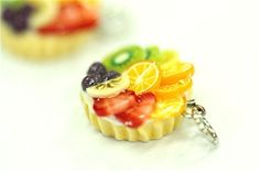 Miniature Foods Charm, Beaded Jewelry Handmade Gifts 2 pcs