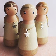 Guardian Angel wooden peg dolls