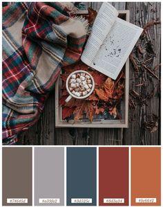 Fall Color Schemes, Color Schemes Colour Palettes, Fall Color Palette, Colour Pallette, Winter Color Palettes, Vintage Colour Palette, Color Combos, Paleta Pantone, September Colors