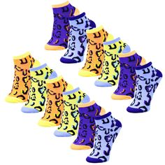 15.99$  Buy here - http://viafv.justgood.pw/vig/item.php?t=pslnzf46580 - 12 Pairs of Womens Ankle Socks, Colored Design Stylish Ladies Sport Sock Leopard