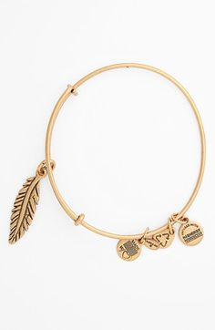 SIXTH MOST WANTED Stackable Alex and Ani 'Feather' Expandable Wire Bangle available at #Nordstrom | $28