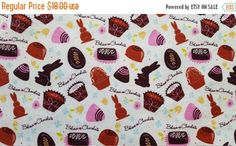 ON SALE Easter Table Runner Chocolates Bunnies Glitter Padded