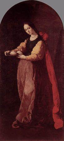 Sainte Agathe de Francisco de Zurbaran