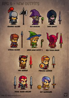 Cartoon RPG Characters 5