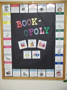 Book-opoly | Library Bulletin Board - April 2011 | Valerie Knight | Flickr