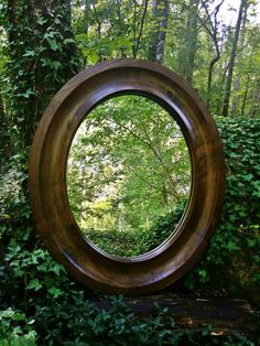 Rustic Oval Mirror Walnut By PecknScratch